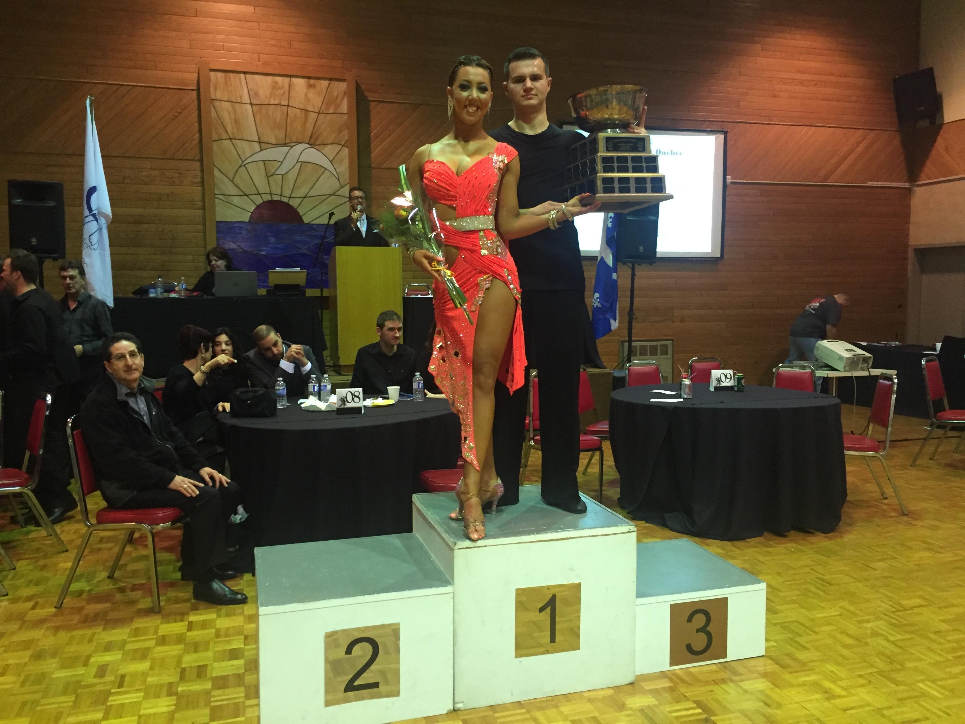 Sarah-Maude Thibaudeau et Daniel Zaharia - Danse Sportive Champions Qébécois
