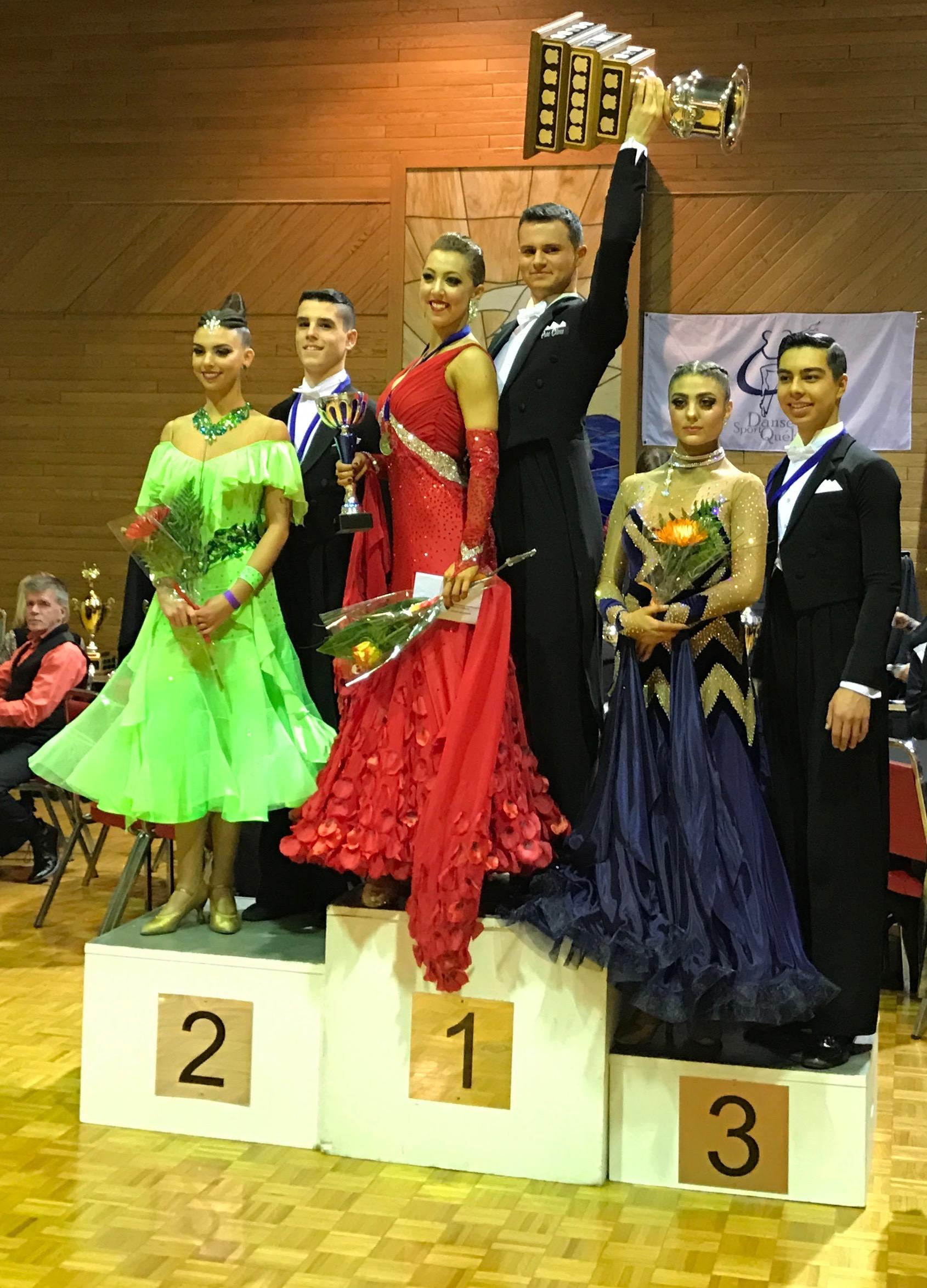 Sarah-Maude Thibaudeau et Daniel Zaharia - Champions Québécois en danse sportive
