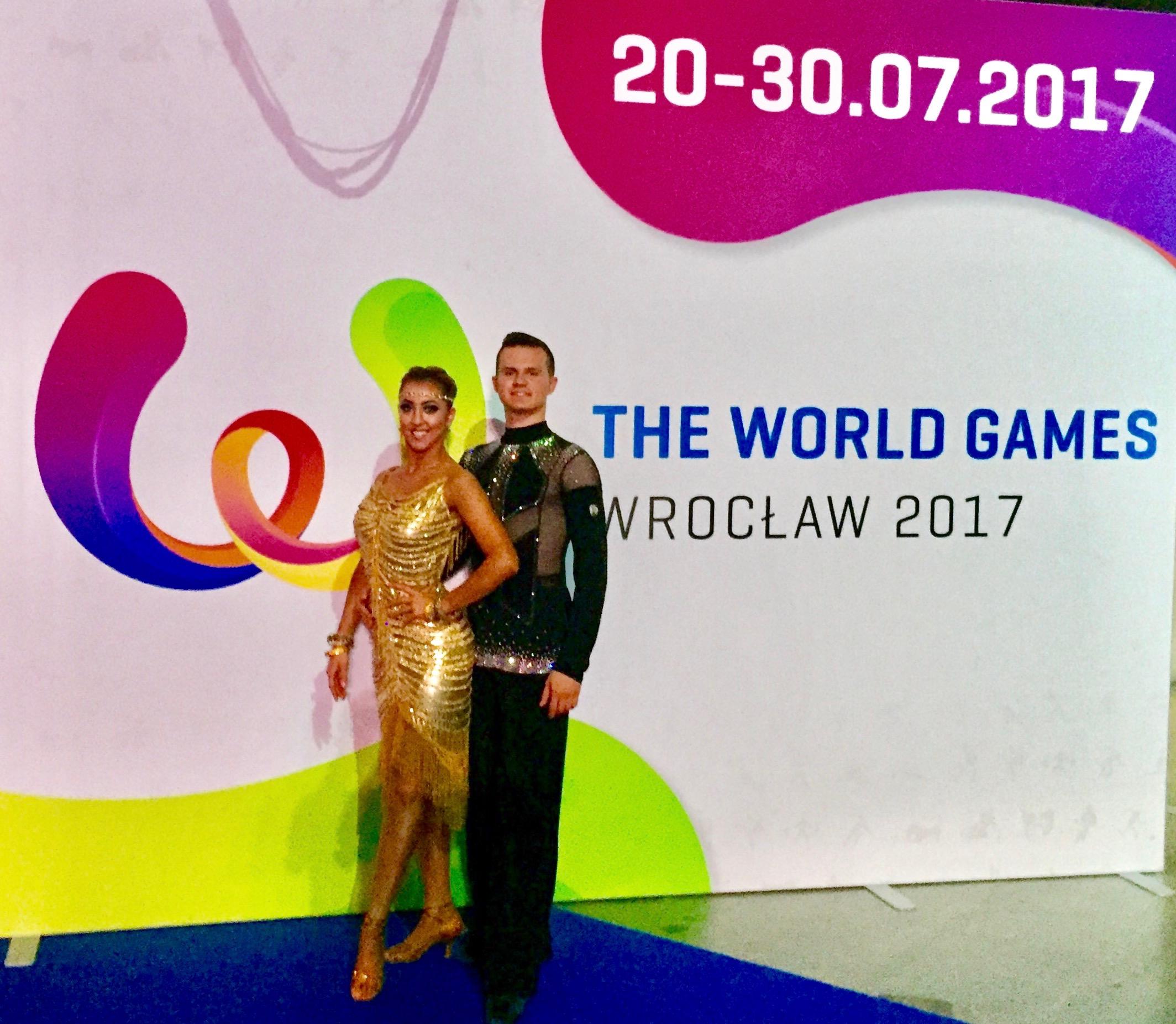 Sarah-Maude Thibaudeau et Daniel Zaharia - World Games 2017 in Wroclaw, Poland (Dance Sport).